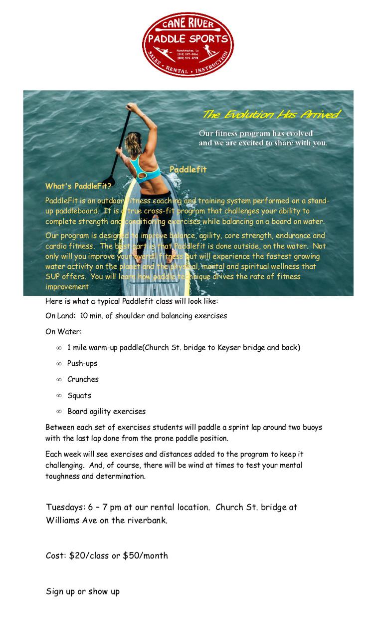 Paddfit flyer poster 1